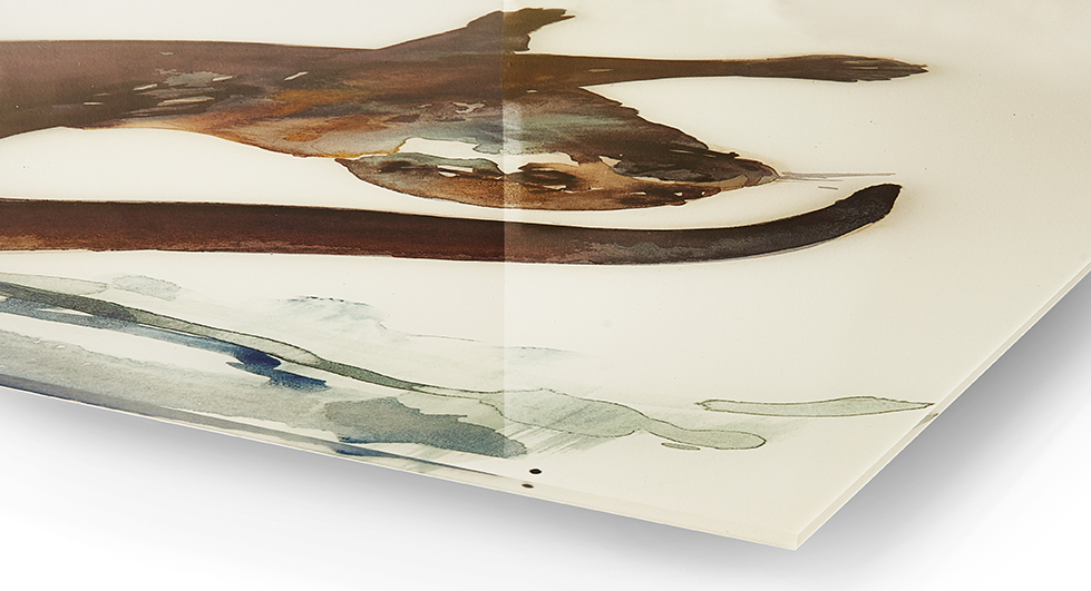 Acrylglasbilder: Kunstdruck Direkt Hinter Acrylglas. Hier Ansicht  Vorderseite.