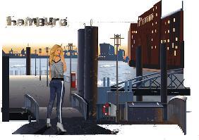 Kunstdruck von  Weedo - Hafenklang