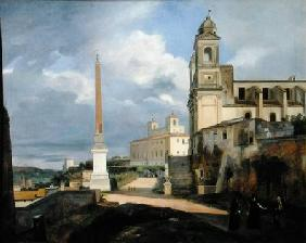 Trinita dei Monti and the Villa Medici, Rome 1808