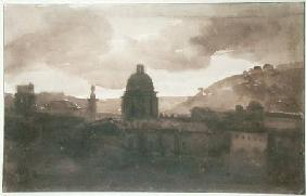 View of Rome from Santa Trinita dei Monti