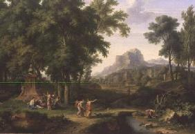 Arcadian Landscape with a Bust of Flora 1724-25