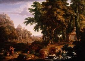 Arcadian Landscape with St. Peter and St. John Healing the Crippled Man 1724-25