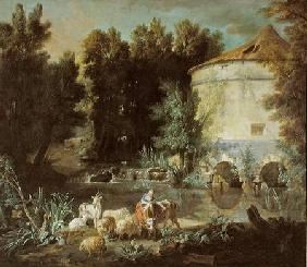 Landscape with a Round Tower 1737