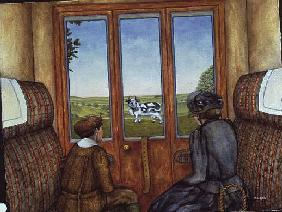 The Silly Cow after D.H.Lawrence''s ''Sons and Lovers'', (oil on canvas)