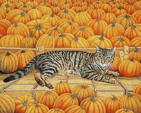 The Pumpkin-Cat, 1995 (acrylic on panel)  1995