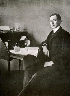 Guglielmo Marconi, from ''The Year 1912'', published London, 1913 (b/w photo)