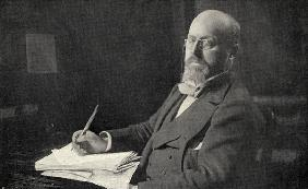 Henry James (1843-1916) in his study (b/w photo)