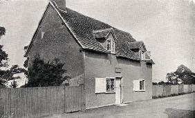 John Bunyan''s (1628-88) house in Bedfordshire (b/w photo)