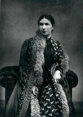 Mrs Humphry Ward, 1881 (b/w photo)