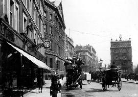 Queen Victoria Street, London, c.1891 (b/w photo)