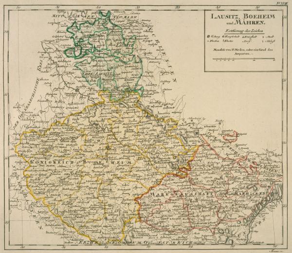 landkarte von b hmen m hren etc 1795 franz als kunstdruck oder handgemaltes gem lde. Black Bedroom Furniture Sets. Home Design Ideas