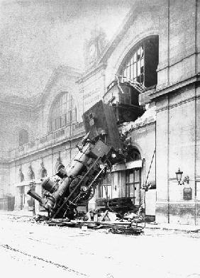 Train accident at the Gare Montparnasse in Paris on 22nd October 1895
