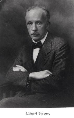 Richard Strauss (1864-1949) in Berlin, 1920s (b/w photo)