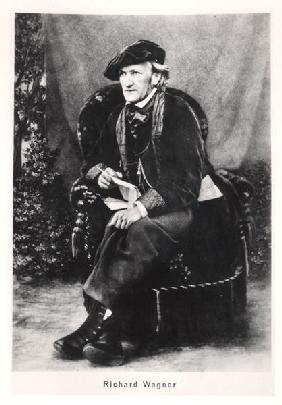 Richard Wagner (1813-1883) (b/w photo)
