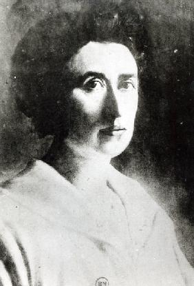 Rosa Luxemburg (1871-1919) (oil on canvas) (b/w photo)