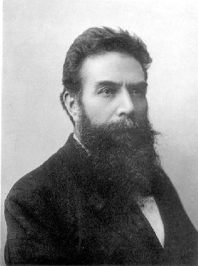 Wilhelm Konrad Roentgen (1845-1923) c.1896 (b/w photo)