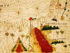 The Red Sea, from a nautical atlas, 1520(detail from 330913)