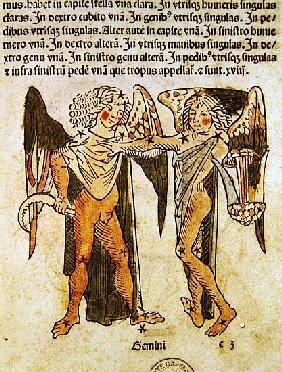 Gemini (the Twins) an illustration from the ''Poeticon Astronomicon'' C.J. Hyginus, Venice