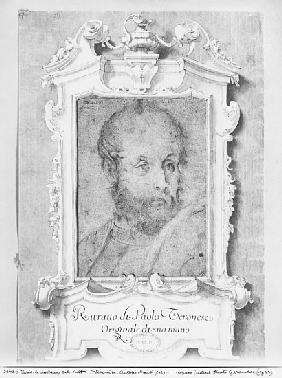 Portrait of a man presumed to be Veronese (Paolo Caliari) (pierre noire on bluish paper)