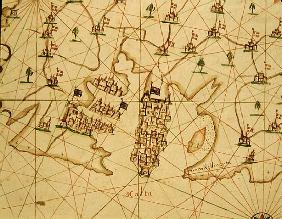The Port of La Valletta, from a nautical atlas, 1646(detail from 330944)
