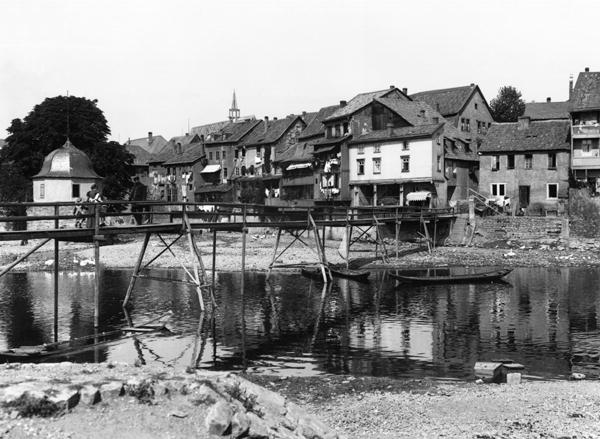 Tapeten In Bad Kreuznach : The River Nahe, Bad Kreuznach, c.1910 (b – Jousset als Kunstdruck oder