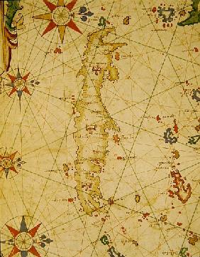 The Island of Crete, from a nautical atlas, 1651(detail from 330925)