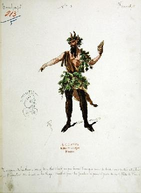 Costume design for a faun, for the opera ''Tannhauser'',