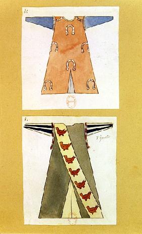 Costume designs for the role of Tannhauser in the opera ''Tannhauser'',