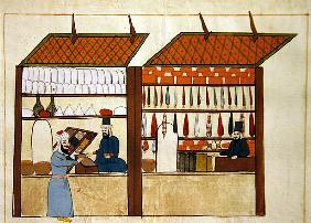 Ms. cicogna 1971, miniature from the ''Memorie Turchesche'' depicting Turkish merchants