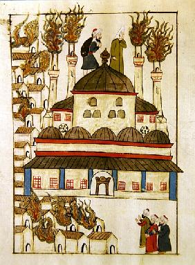 Ms. cicogna 1971, miniature from the ''Memorie Turchesche'' depicting the Hagia Sophia during the fi