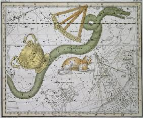 Hydra, from 'A Celestial Atlas', pub. in 1822 (coloured engraving)