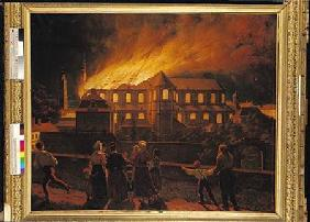 Fire at Cambrai Cathedral 9th Septem
