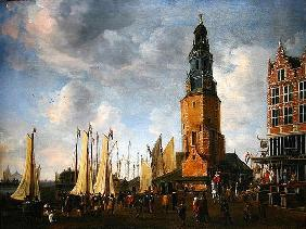 The Herring Packers' Tower, Amesterdam (oil on canvas) 1845
