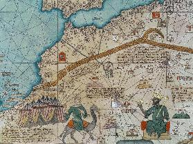 Detail from the Catalan Atlas, 1375