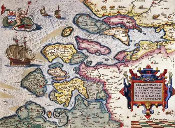 Map of Zeeland, c.1560