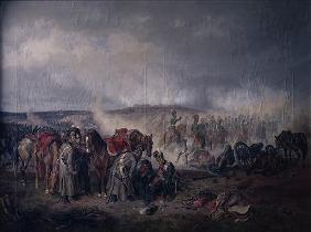 The death of Count Seinsheim at the Battle of Borodino in 1812