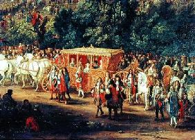 The Entry of Louis XIV (1638-1715) and Maria Theresa (1638-83) into Arras 30th July