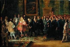 The Reception of the Ambassadors of the Thirteen Swiss Cantons by Louis XIV (1638-1715) at the Louvr 1664