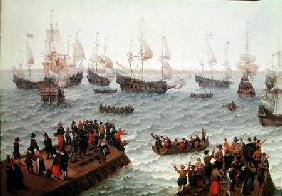 Ships departing for battle  (detail)