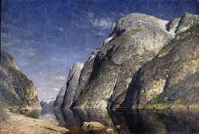 The Sognefjord, Norway, c.1885 (oil on canvas) 19th