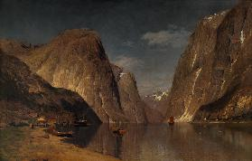 Up the Sogne Fjord, near Gudangen 1876