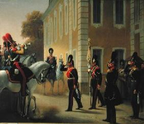 Parading of the Standard of the Great Palace Guards 1853