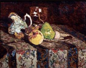 Still life with white pitcher c.1878-80