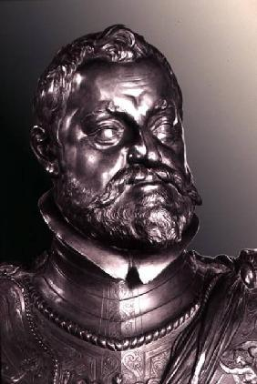 Rudolph II Holy Roman Emperor (1552-1612) detail of half length portrait bust 1603