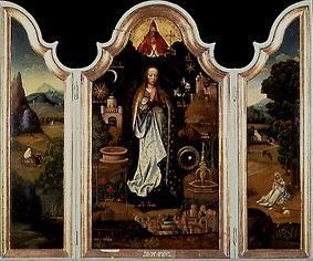 immaculata triptychon adriaen isenbrant als kunstdruck oder handgemaltes gem lde. Black Bedroom Furniture Sets. Home Design Ideas