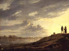 Sunset over a River 1650s