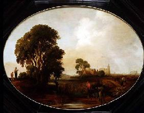 A landscape with Reedcutters