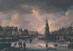Town on a Frozen River