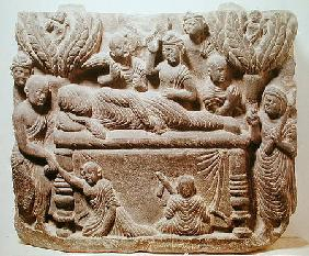 The death of Buddha, Gandhara region