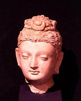 Head of a Buddha, Greco-Buddhist style, from Hadda from Hadda